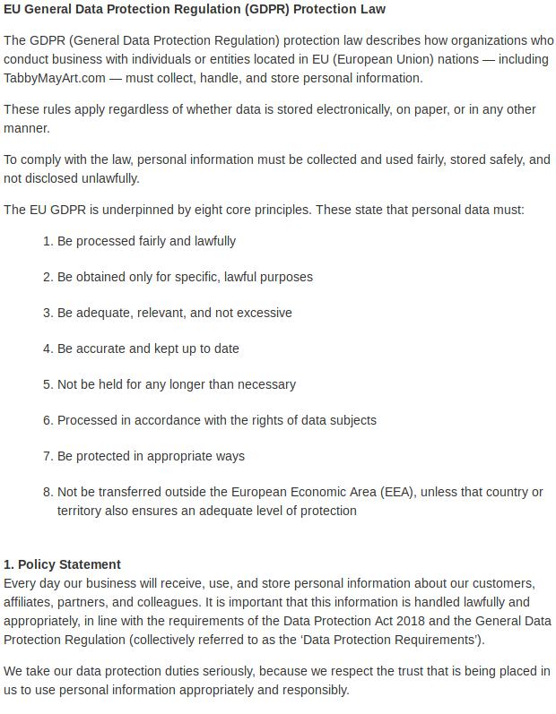 Data Protection 2