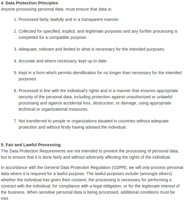 Data Protection 4