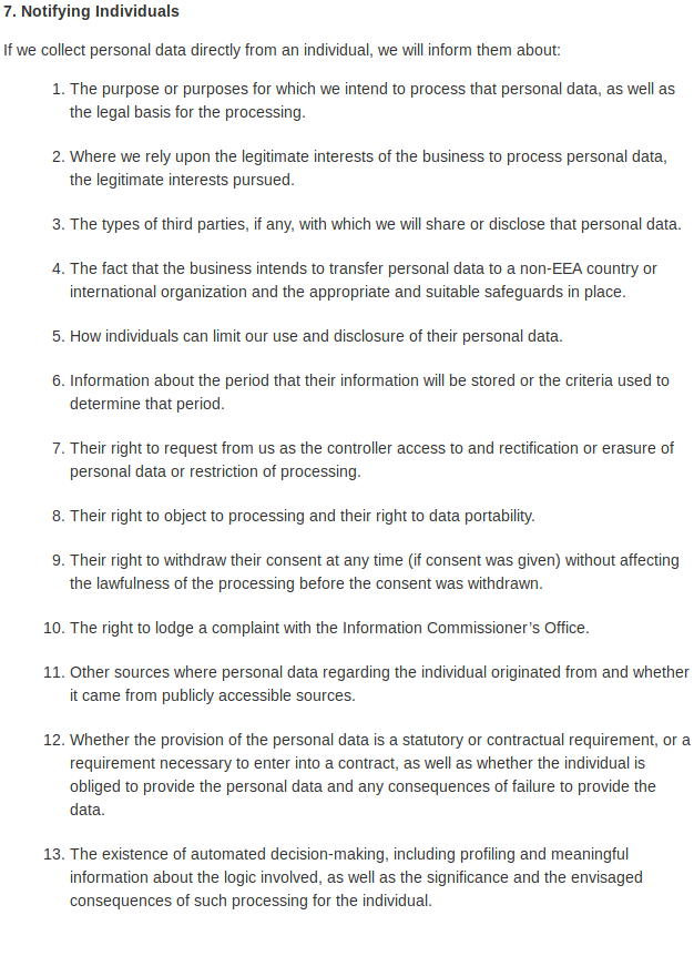 Data Protection 7