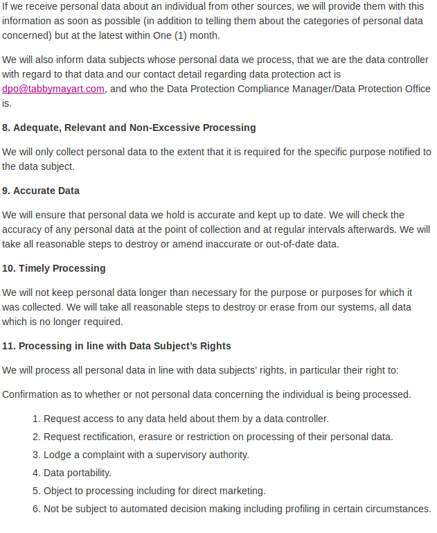 Data Protection 8
