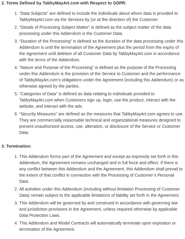 Data protection addendum 03