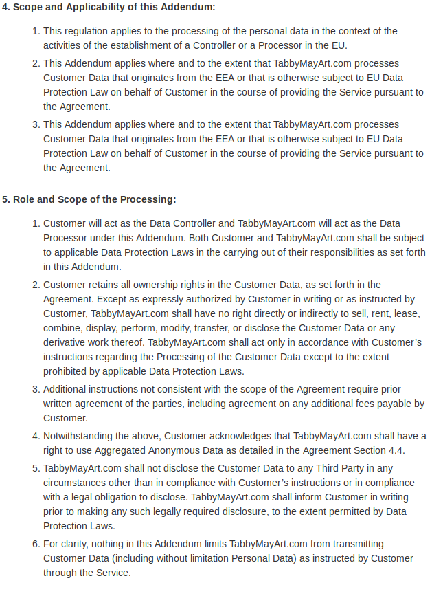 Data protection addendum 04