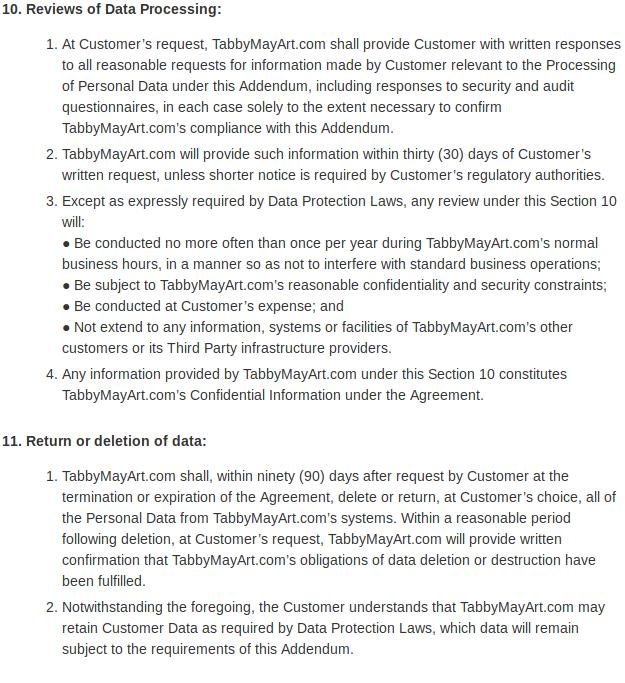 Data protection addendum 07